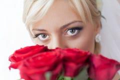 Porträt einer reizend Braut Lizenzfreie Stockfotos