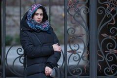 Porträt einer romantischen jungen Frau Lizenzfreie Stockbilder