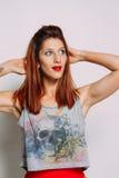 Porträt einer Rothaarigefrau Lizenzfreies Stockfoto