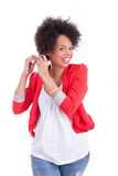 Porträt einer schönen Afroamerikanerfrau Stockfotos