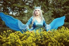 Porträt einer schönen Elfenfrau Lizenzfreies Stockfoto