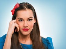 Porträt einer schönen Frau lizenzfreie stockfotos