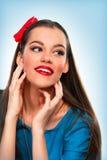 Porträt einer schönen Frau stockfoto