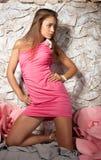 Porträt einer schönen herrlichen jungen Frau Lizenzfreie Stockfotografie