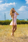 Porträt einer schönen jungen braunhaarigen Frau Lizenzfreies Stockfoto
