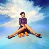 Porträt einer schönen jungen Frau lizenzfreies stockfoto