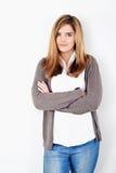 Porträt einer schönen jungen Frau Stockfotografie