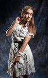 Porträt einer schönen jungen Frau Lizenzfreie Stockfotografie