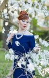 Porträt einer schönen jungen rothaarigen Frau Lizenzfreies Stockbild