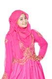 Porträt einer schönen moslemischen Frau Lizenzfreies Stockbild