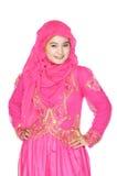 Porträt einer schönen moslemischen Frau Stockbilder
