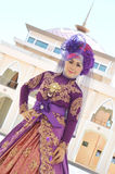 Porträt einer schönen moslemischen Frau Stockfotos
