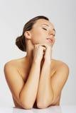 Porträt einer schönen nackten Frau. Herausgeschnitten. stockfotos