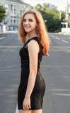 Porträt einer schönen natürlichen jungen Frau Lizenzfreies Stockbild