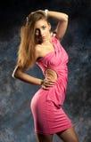Porträt einer schönen sexuellen jungen Frau Lizenzfreies Stockfoto