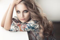 Porträt einer Schönheit lizenzfreies stockfoto