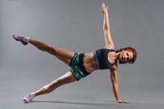 Porträt einer Schönheit in der Sportkleidung Lizenzfreies Stockfoto