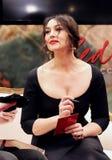 Porträt einer Schauspielerin Monica Bellucci Lizenzfreie Stockbilder