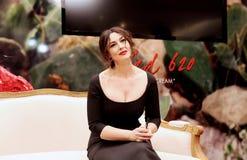 Porträt einer Schauspielerin Monica Bellucci Lizenzfreies Stockbild