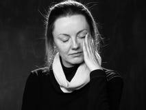 Porträt einer traurigen Frau Stockfotografie