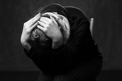 Porträt einer traurigen Frau Lizenzfreies Stockbild