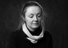 Porträt einer traurigen Frau Lizenzfreie Stockfotografie