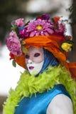 Porträt einer verkleideten Person Lizenzfreies Stockbild