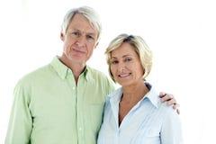 Porträt eines älteren Paares in der Liebe Lizenzfreie Stockfotografie