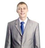 Porträt eines überzeugten jungen Geschäftsmannes Stockbilder
