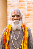 Porträt eines alten Inders Sadhu Stockbilder