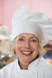 Porträt eines Bäckers stockfoto