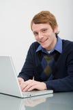 Porträt eines Büroangestellten lizenzfreies stockfoto