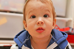 Porträt eines Babys lizenzfreie stockfotos