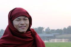 Porträt eines buddhistischen Mönchs Stockfoto