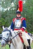 Porträt eines Cuirassier vom 5. Cuirassier-Regiment Stockfotos