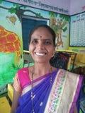 Porträt eines Dorfbewohners von Shahpur, Indien lizenzfreie stockfotos