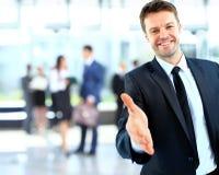 Porträt eines erfolgreichen Geschäftsmannes Stockfotos
