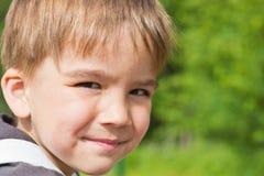 Porträt eines europäischen Jungen lizenzfreies stockbild