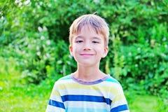 Porträt eines europäischen Jungen stockbild
