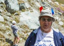 Porträt eines Fans - Tour de France 2015 Lizenzfreies Stockbild