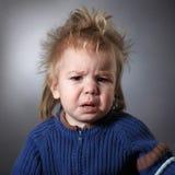 Porträt eines frustrierten Kindes Stockbild