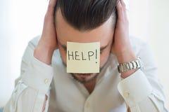 Porträt eines Geschäftsmannes frustriert lizenzfreie stockfotografie