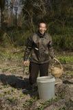 Porträt eines glücklichen Bauers Lizenzfreie Stockfotos