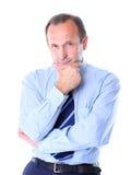 Porträt eines glücklichen Geschäftsmannlächelns stockfotos