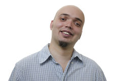 Porträt eines hübschen jungen Mannes auf weißem Hintergrund Stockbilder