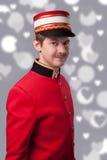 Porträt eines Hausmeisters (Träger) Stockfotos