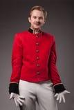 Porträt eines Hausmeisters (Träger) Stockfotografie