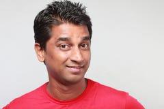 Porträt eines jungen Inders stockbild