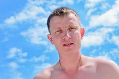 Porträt eines jungen Mannes Lizenzfreies Stockfoto