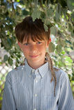 Porträt eines Jungen mit 10-Jährigen Stockfoto